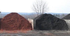 Brown, Black, Red Colored Mulch
