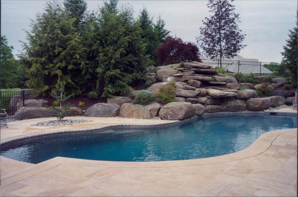 Pool and Patio Landscaping Installations - Lehigh Valley Landscape Services Hilltop Landscaping Bath PA