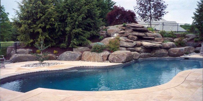 In-ground pool decoration